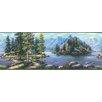 """Brewster Home Fashions Echo Lake Lodge Boon Cabin Scenic 15' x 9"""" Border Wallpaper"""