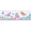 """Brewster Home Fashions Hide and Seek Ava Butterfly Swoosh 15' x 6"""" Border Wallpaper"""