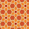 "Brewster Home Fashions Bath Bath Bath Volume IV Flor Geometric Floral 33' x 20.5"" Wallpaper"