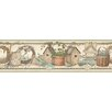 "Brewster Home Fashions Countryside Marlene Angels & Ivory 15' x 6"" Border Wallpaper"