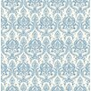 "Brewster Home Fashions Kismet Waverly Petite Damask 33' x 20.5"" Wallpaper"