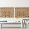 Brewster Home Fashions WallPops Kraft Calendar Whiteboard Wall Decal