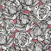 """Brewster Home Fashions Zinc 33' x 20.5"""" Calista Modern Rose Floral Embossed Wallpaper"""