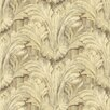 "Brewster Home Fashions Pompei Acanthus Sculpted 33' x 20.5"" Floral and Botanical Embossed Wallpaper"