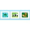 Olive Kids 3 Piece Endangered Animals Personalized Framed Art Set