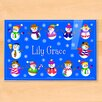 Olive Kids Winter Snowmen Personalized Placemat