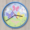 "Olive Kids 12"" Butterfly Garden Personalized Wall Clock"