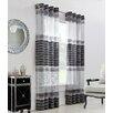 Commonwealth Home Fashions Onyx Single Curtain Panel