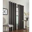 Commonwealth Home Fashions Faux Jute Single Curtain Panel