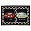 Park B Smith Ltd PB Paws & Co. Black Meal Time Tapestry Indoor/Outdoor Area Rug