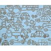 notNeutral Kids Transport Ozone Blue/Sable Area Rug