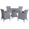 DHI Cambria 5 Piece Dining Set with Cushions