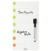 AccoBrands Magnetic Day Planner Wall Mounted Whiteboard, 1' x 1'