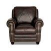 Luke Leather Solomon Italian Leather Chair and Ottoman