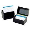 "Esseltependaflex 4"" x 6"" Plastic Index Card Flip Top File Box"