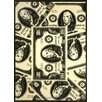 Home Dynamix Zone Currency Novelty Black/Ivory Area Rug
