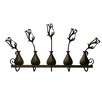 Plastec Rose Bud Vases 5 Hook Rack