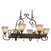 Wildon Home ® Portsmouth Chandelier Pot Rack with 8 Light
