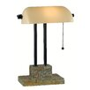 "Wildon Home ® Greenville 14.5"" H Table Lamp with Rectangular Shade"
