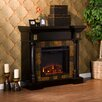 Wildon Home ® Carraway Faux Slate Convertible Electric Fireplace in Black