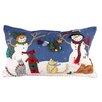 Wildon Home ® Two Snowmen with Gifts Lumbar Pillow