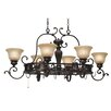 Wildon Home ® Cartleton Chandelier Pot Rack with 8 Light