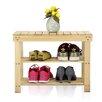 Wildon Home ® 2 Tier Pine Wood Shoe Rack