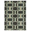Wildon Home ® Charalyn Chocolate/Turquoise Area Rug