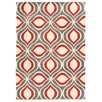 Wildon Home ® Alodie Gray/Red Area Rug