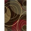 Wildon Home ® Charlotte Circles Brown & Red Area Rug