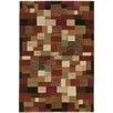 Wildon Home ® Saville Geometric Blocks Rust/Beige Area Rug