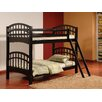 Wildon Home ® Twin Over Twin Standard Bunk Bed