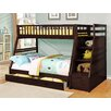 Wildon Home ® Twin Over Full Standard Bunk Bed with Drawer and Storage Step