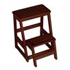 Wildon Home ® Folding Compact 2-Step Wood Step Stool