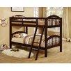 Wildon Home ® Twin Over Twin Bunk Bed with Arched Design