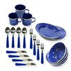 Stansport 24-Piece Camping Tableware Set