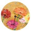 """Lexington Studios Home and Garden 18"""" Gerber Daisy Wall Clock"""