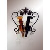J & J Wire 2 Bottle Wall Mount Wine and Glass Rack