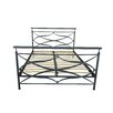 Gold Sparrow Rome Metal Panel Bed