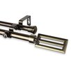 Rod Desyne Sterling Double Curtain Rod and Hardware Set