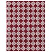 St. Croix Jacquard Hand-Woven Red Area Rug