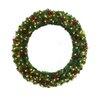 "General Foam Plastics 60"" Lighted Multi Tip Semi Decorated Wreath"