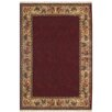 American Home Rug Co. Chicken and Rooster Hand-Tufted Burgundy Area Rug