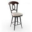 "Amisco Countryside Style 26.75""Swivel Bar Stool with Cushion"