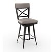 "Amisco Library Luxe Style 30.25"" Swivel Bar Stool with Cushion"