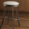 """Amisco Library Luxe Style 26"""" Swivel Bar Stool with Cushion"""