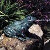 Brass Baron Happy Frog Fountain