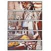 Majestic Mirror 5 Piece Mixed Media Painting Print Set
