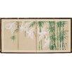 "Oriental Furniture 18"" x 36"" Bamboo Escape 4 Panel Room Divider"