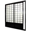 "Oriental Furniture 83"" x 73.5"" Double Sided Sliding Door Room Divider"